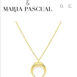 Maria Pascual Gold Horn Necklace